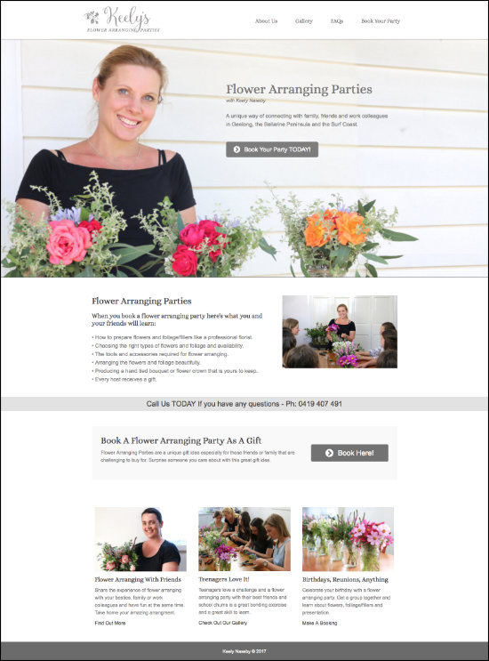 keelys flowers website
