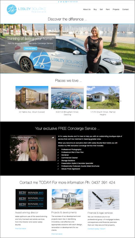 lesley bourke real estate website